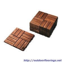 Wood floor deck tiles used for exterior