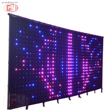 Impression accept custom size led video curtain, led decoration screen