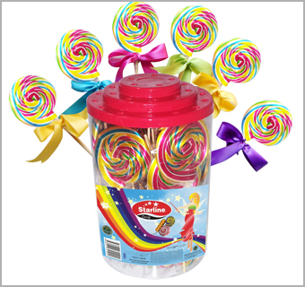 RAINBOW LOLLIPOP HARD CANDY SWEET TASTE