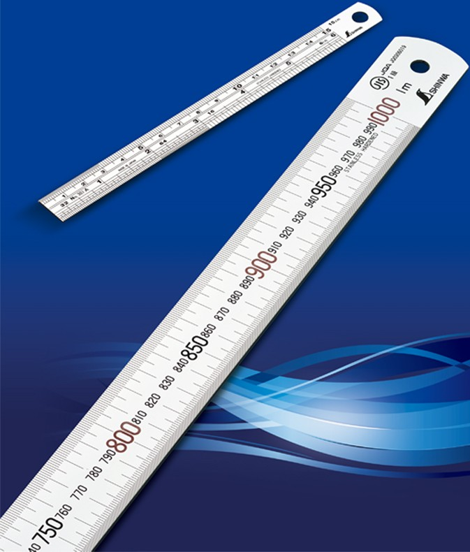 Precise measuring tools & rules for construction and industrial use. Manufactured by Shinwa. Made in Japan (tailor ruler)