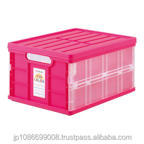 colorful and High quality plastic food storage container folding box with lid made in Japan