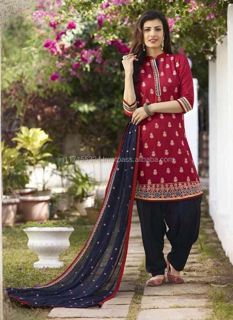 Punjabi Suit Material Salwar Kameez Designs For