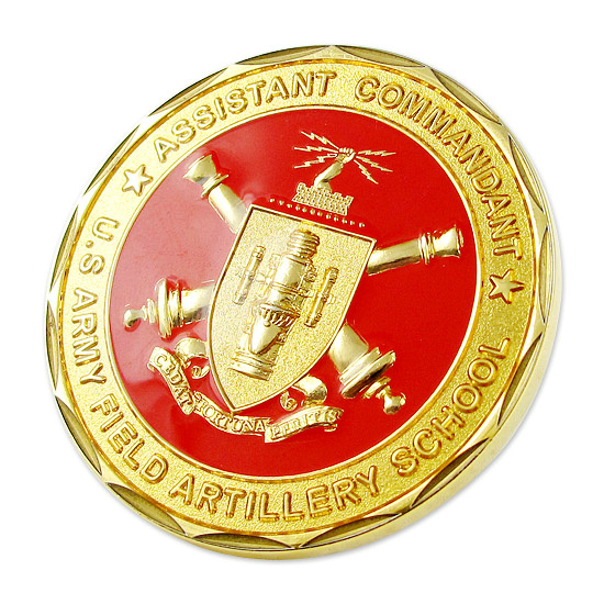 Hole Type Imitation Hard Enamel Glitters Challenge Coin