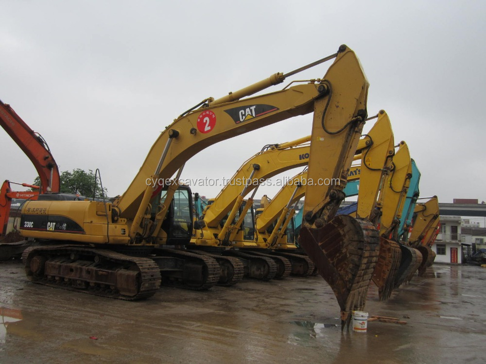 Used Large Caterpillar 345D Hydraulic Crawler Excavator For Sale Excellent