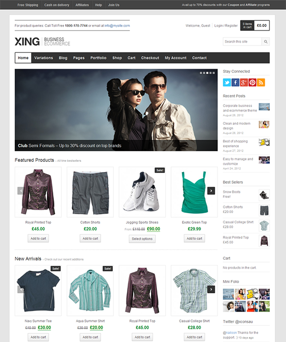 SEO Friendly eCommerce Website Designing with Wordpress/Magento/OpenCart for Online Sale