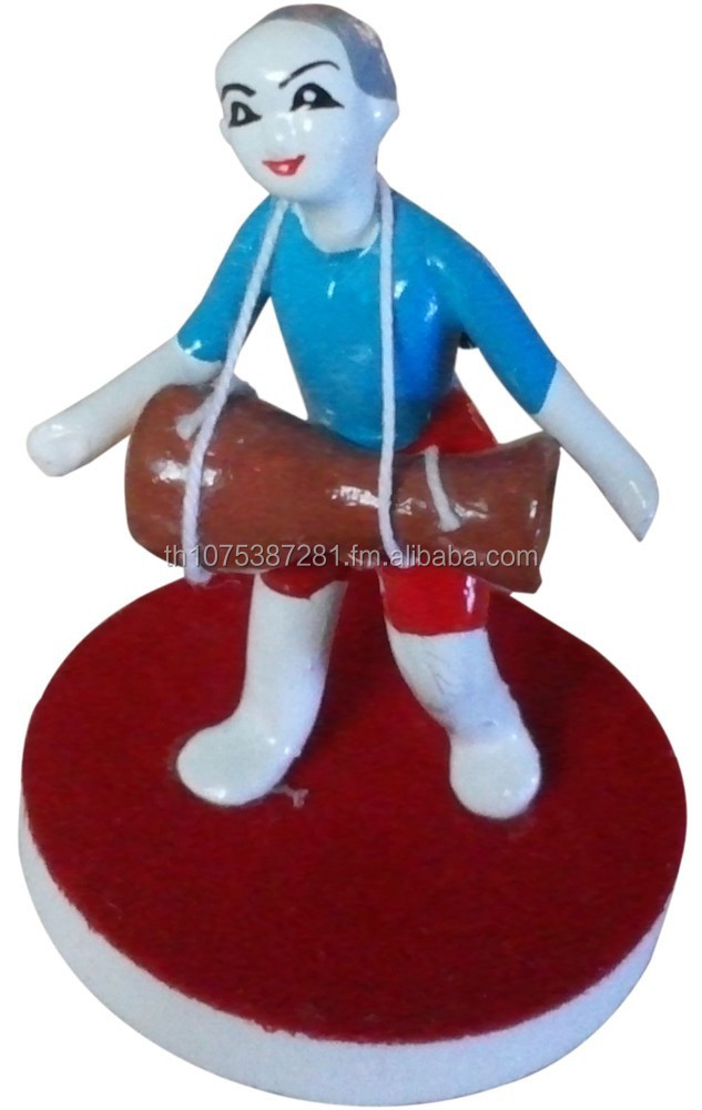 Music Thai Instrument Pottery Doll Made with Clay
