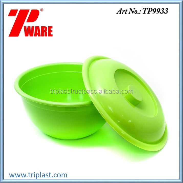 11.4 inch Plastic Bowl Container with Lid or Cover PP Material Green Color