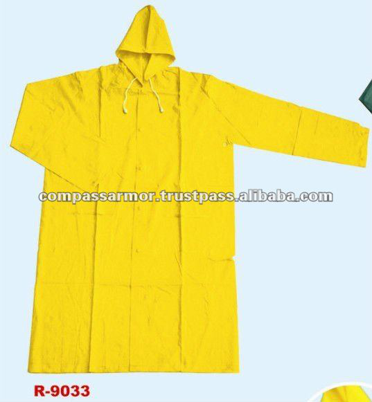 military rainsuit raincoat,police rainsuit- pvc polyester long raincoat