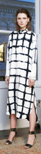 Sanganeri Tie Dye Black & White Color Kurta 100 % Cotton Middle Length Top Kurti