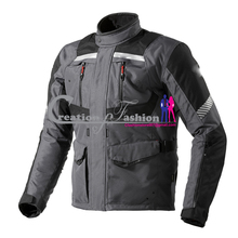 CFCMJM-1565 motorbike water proof up jacket men approved jacket gray black and whit color