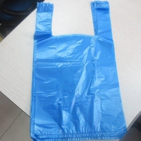 Beautiful full color printing shopping bag / /hot sell T-shirt plastic bag for supermart