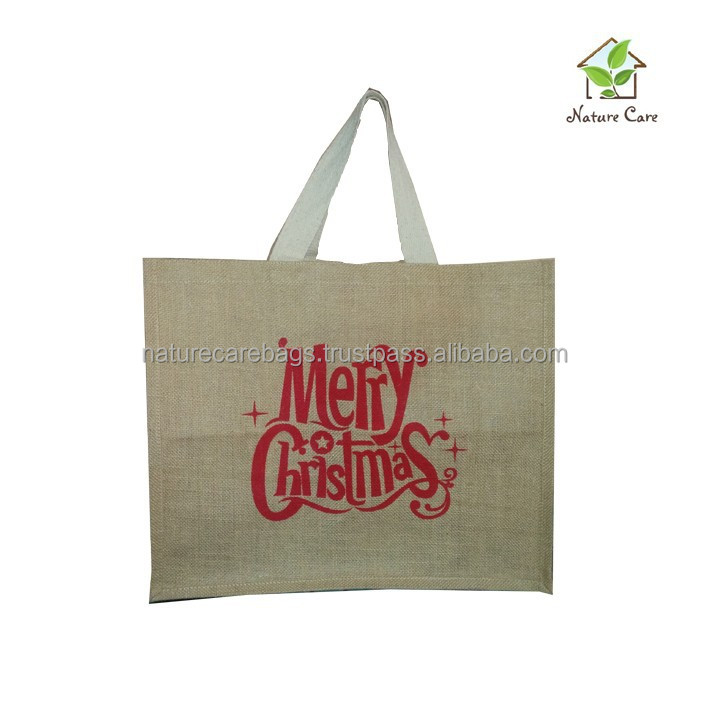 recycled promotional gift packaging jute bags With Logo print./Customized jute tote bag /jute tote bags promotion