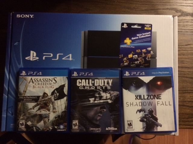 Original Playsttation 4 PS4 10 GAMES 2 EXTRA CONTROLLERS NEW WARRANTY ORIGINAL