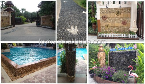 garden stone on the pool side
