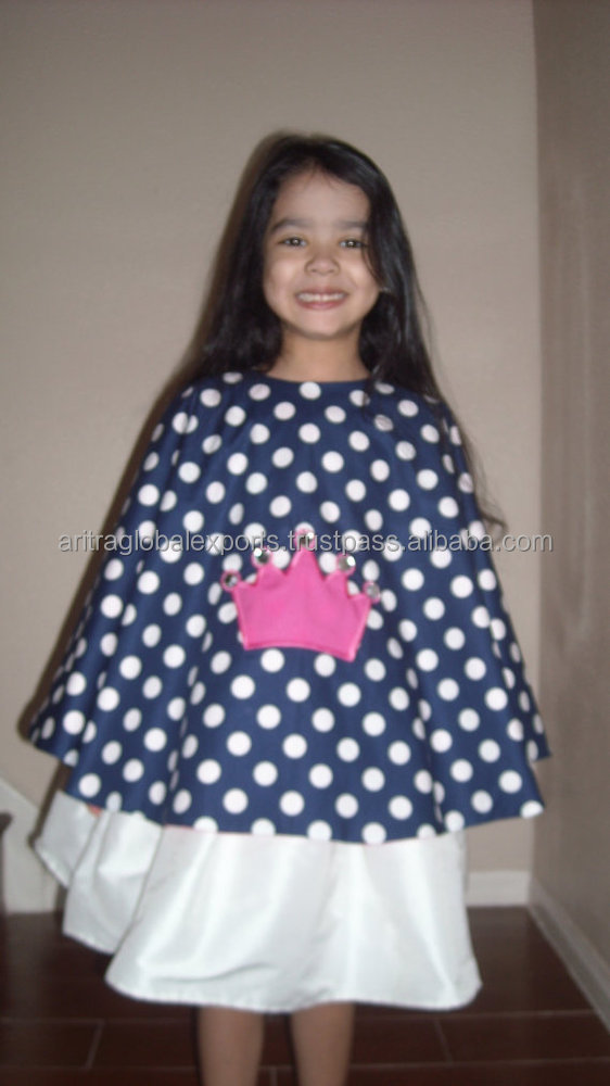 navy polka dot and hot pink with crown embroidery and rhinestones pageant cover up