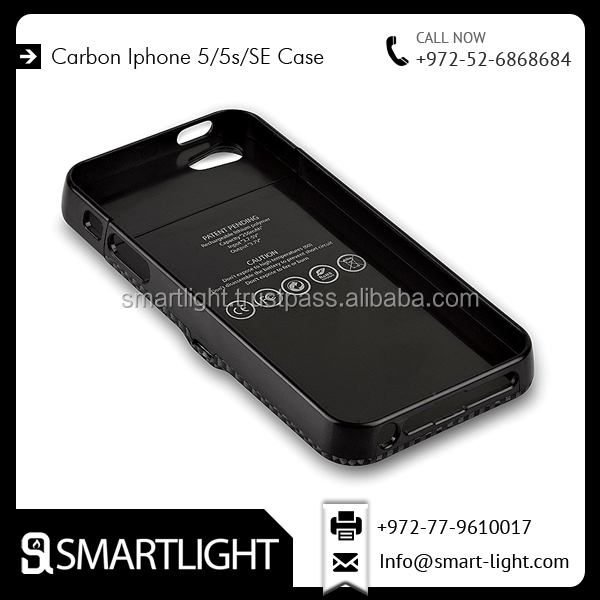 Rubber Coating Smart Finish Carbon Cover Lighter Case for IPhone 5/5s