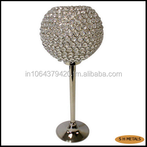 Crystal ball centerpiece, Crystal ball for wedding decoration, Crystal globe candle holder .