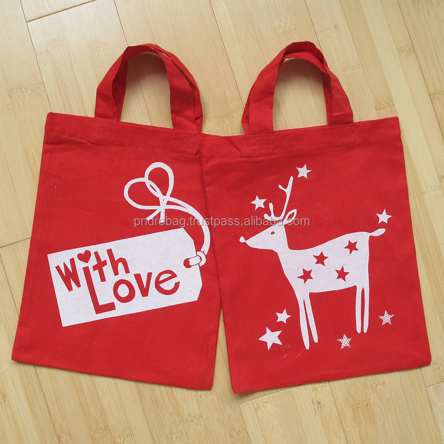 Colored cotton canvas tote bags