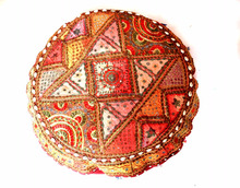 "Wholesale 18"" Handmade Round Ottoman~Pouf~Stool~Chair Tapestry Moroccan Pouf India"