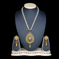 Beaded gold designer mala sets