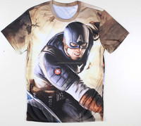 Captain America best sublimation t shirt with your own design 3d dye sublimation t shirts for men