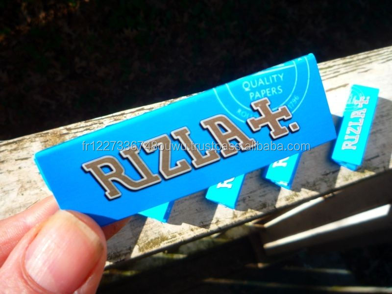RIZLA + BLUE TOBACCO PAPERS 6 Pack x 50 CIGARETTE PAPERS QTY 6