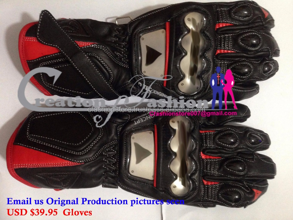 NEW 4 Stroke Dai RED/ LEATHER SPORT MOTORCYCLE GLOVE 2 USD $39.95 FOB