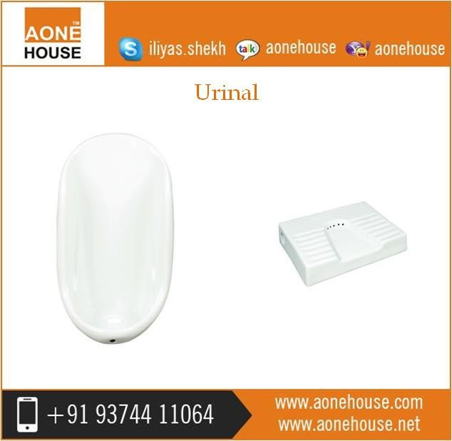 New Design High Quality Flushing Flat Back Wall Urinal Toilet Reputed Supplier