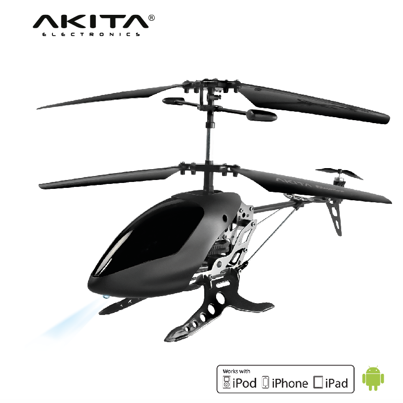 Black Smartphone operated App controlled Helicopter