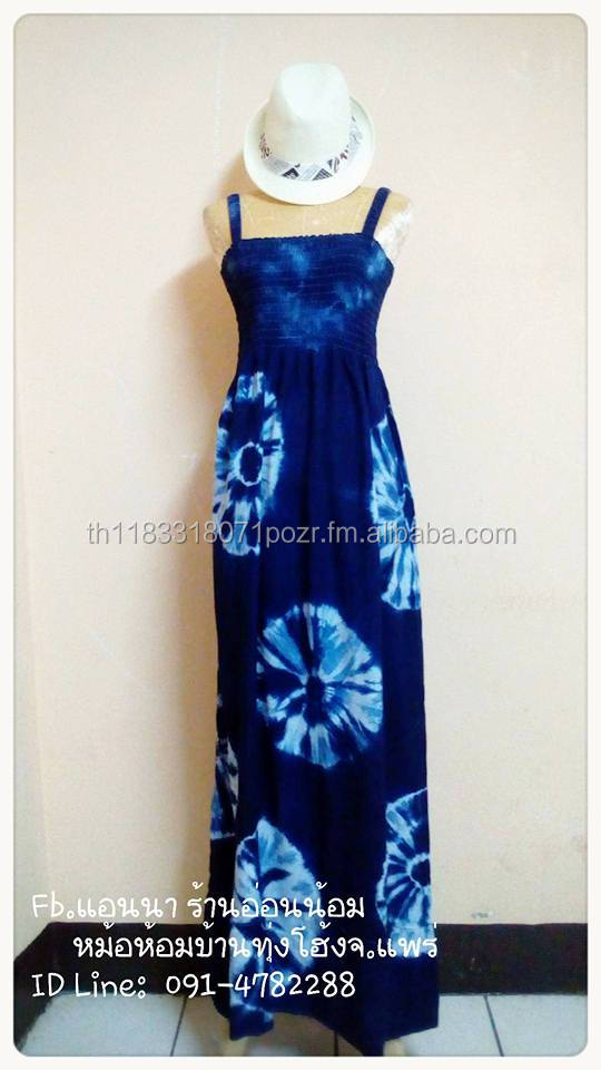 Dress indigo tie dye