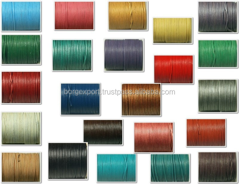 2mm Round pure Leather Cords
