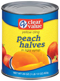 Canned Peaches Sliced in light syrup with private brand