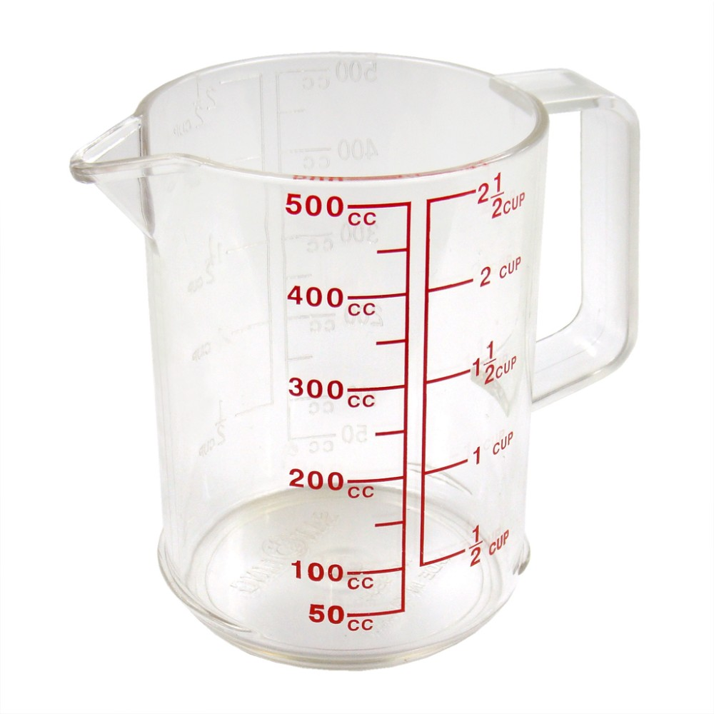 Bakeware Measuring Tools for flour or liquid ingredients PC plastic double side unit marks Measuring Cup Set