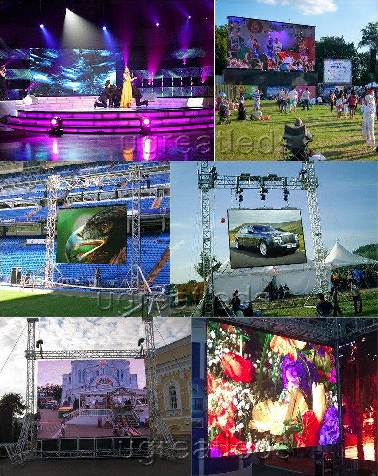 High Resolution P3.2mm Concert Touring Custom LED Display