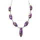 Appealing Purple Copper Turquoise 925 Sterling Silver Necklace