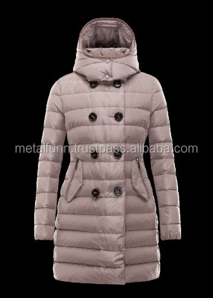 Double-Breasted Detachable Dove grey Coats Techno Fabric Womens/Fashionable Sexy Long Coat Fur Hood