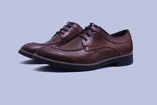 Leather shoe manufactured in Ethiopia