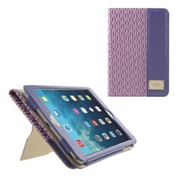New Smart Card Holder Leather Stand Case for iPad Mini 3, Embedded frame Elegant PU Smart Cover for ipad mini 2