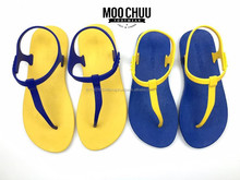 Rubber ladies sandles and cheap wholesale flip flops women with full color design advertising PE