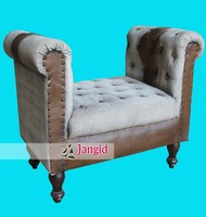 vintage style fabric leather sofas manufacturer and exporter of home furniture
