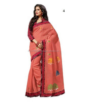 Indian Embroidery Designs Cotton Saree