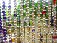 Crystal multi color Beads Curtain Window/Door/Kitchen Hanging Curtain Wedding