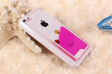 Liquid Dynamic Clear Hard case back cover for iphone 5C