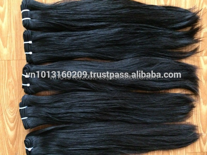Silky & smoothly straight wefted hair hot selling on Alibaba.com