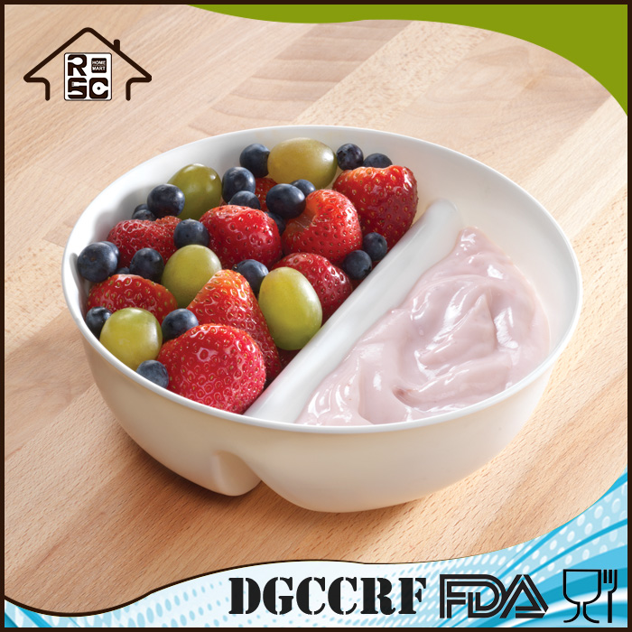 Eco-friendly Microwave Safe Never Soggy Plastic Cereal Milk Bowl