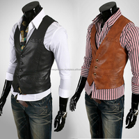 Leather waistcoat for men