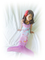 kids mermaid tail swimsuit costume