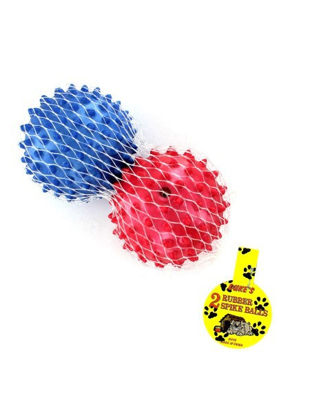 Rubber Spike Dog Balls
