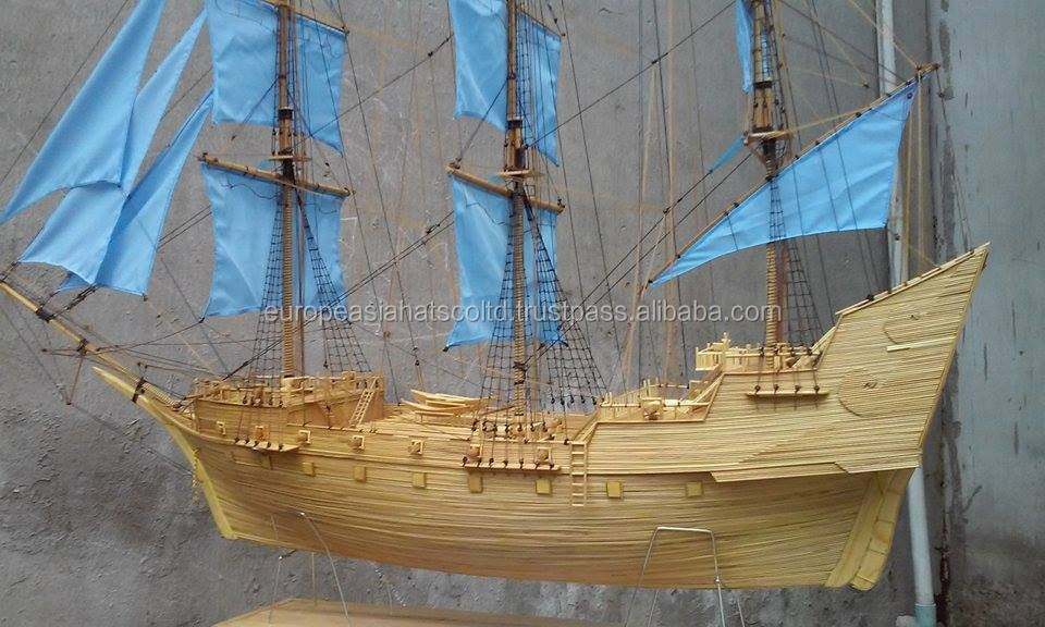 Sailling boat make by wood in Vietnam