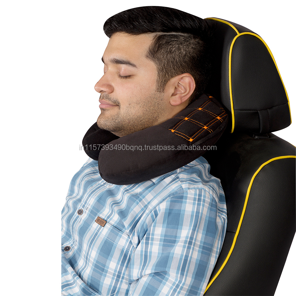 Car Neck Cushion Pillow black with memory foam